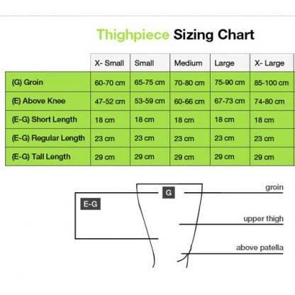BSN/FarrowWrap LITE Thighpiece Size Chart