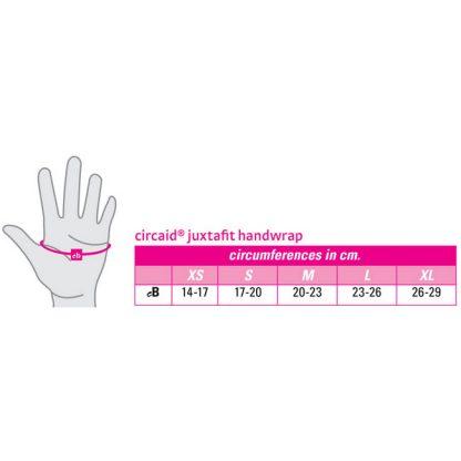 CircAid JuxtaFit Essentials Hand Wrap Size Chart