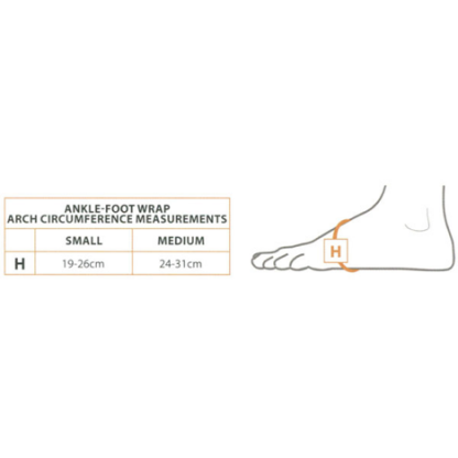CircAid JuxtaLite Standard Ankle Foot Wrap Chart