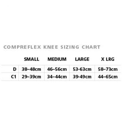 BiaCare CompreFLEX Knee Sizing Chart
