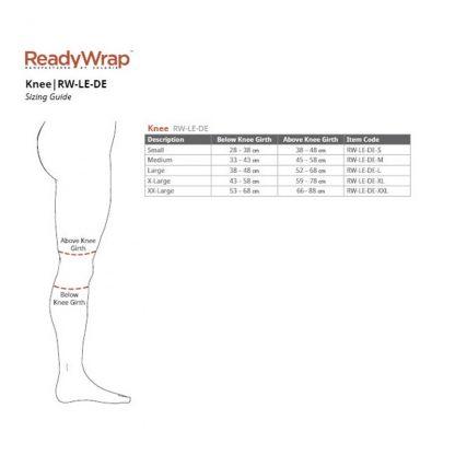 Solaris Ready Wrap Knee Size Chart