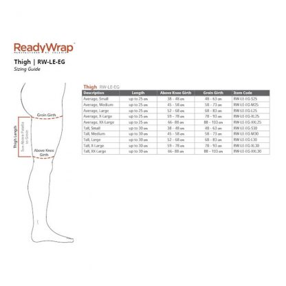 Solaris Ready Wrap Thigh Size Chart