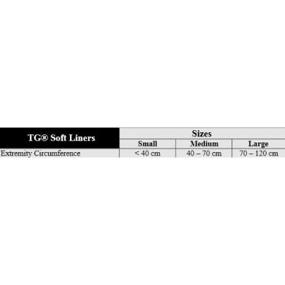 TG Soft Liner Size Chart